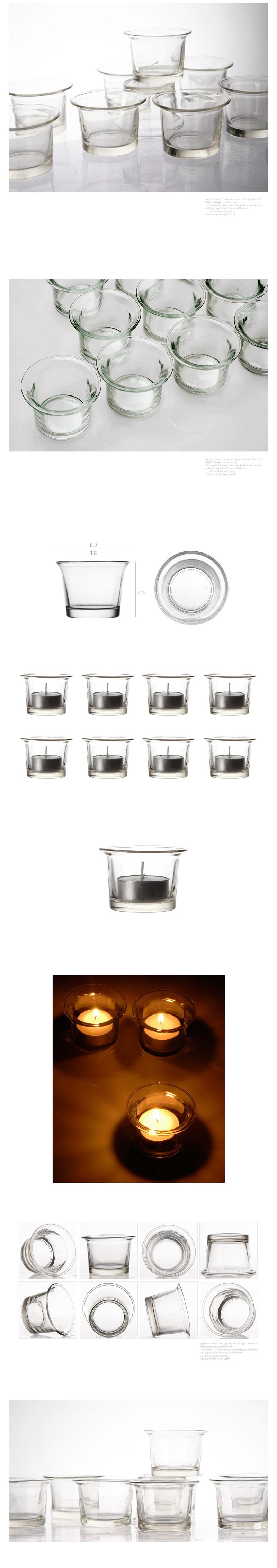 투명 유리컵 홀더 - 리버그린, 1,000원, 캔들, 캔들홀더/소품