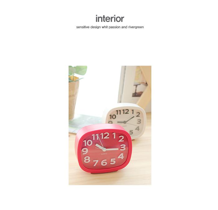 모던 3D 탁상 알람시계(사각)_6color - 리버그린, 11,700원, 알람/탁상시계, 알람시계