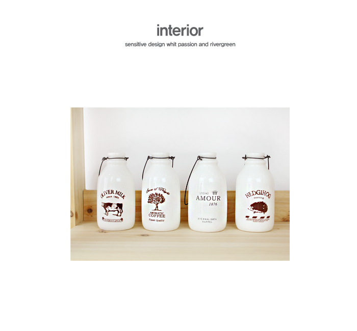 프린트 철사 우유병-5style - 리버그린, 5,400원, 장식소품, 엔틱오브제